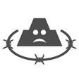 sad prison flat icon vector image vector image