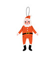 santa claus traditional christmas decoration new vector image vector image