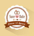 save the date badge romantic retro invitation vector image