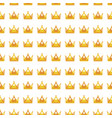 seamless gold white crown pattern background vector image vector image