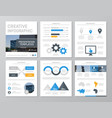set of blue and yellow elements for multipurpose vector image vector image