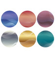 set of round background with wavy patterns vector image
