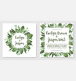 set wedding invitation cards invite a card vector image