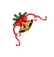 Shiny golden christmas bell