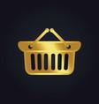 shopping cart basket buy gold logo vector image