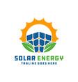 solar power plant renewable logo vector image