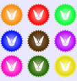 Spotlight icon sign Big set of colorful diverse vector image vector image