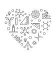 stem heart concept outline minimal vector image vector image
