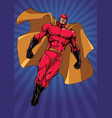 superhero flying ray light vertical vector image vector image