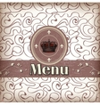 template for a restaurant menu vector image
