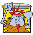Troll with sword vector image vector image