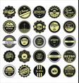 vintage labels black and beige set vector image