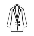 woman overcoat it is black icon vector image