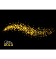 Cosmic glittering wave golden sparkling star Magic vector image