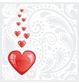 Postcard with the heart vector image