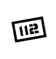 112 rubber stamp vector image vector image