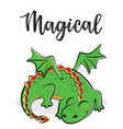a magical cute dragon vector image vector image