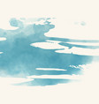 abstract watercolor brush element on white vector image vector image