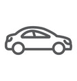 auto trip line icon automobile and tourism car vector image vector image