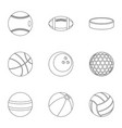 ball icons set outline style vector image vector image