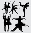 ballet dance silhouette vector image vector image