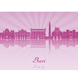 Bari skyline in purple radiant orchid vector image vector image