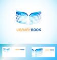 Book library logo vector image
