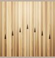 bowling street wooden floor alley vector image vector image