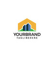building town logo design template vector image vector image