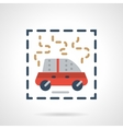 Burning car abstract flat icon vector image