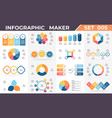 business infographics diagrams charts with 3 4 vector image