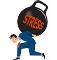 Businessman under stress vector image vector image