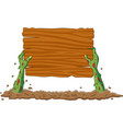 cartoon zombie hands out ground vector image