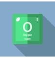 Chemical element Oxygen Flat vector image vector image