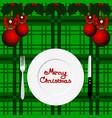 christmas card christmas dinner vector image