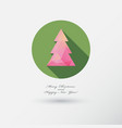christmas tree icon with long shadow vector image vector image