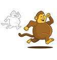 Chunky Monkey vector image vector image