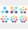 circle arrows metaball infographic cycle vector image vector image
