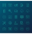 Coding Resources Line Icons vector image vector image