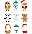 Collection of Cute Bear vector image vector image
