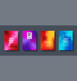 colorful modern abstract background with neon red vector image vector image