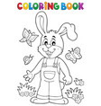 coloring book easter rabbit theme 6 vector image