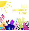 creative universal floral summer background vector image