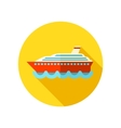 Cruise transatlantic liner ship flat icon vector image