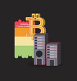 cryptocurrency concept design vector image vector image