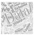 data entry in Richmond Virginia Word Cloud Concept vector image vector image