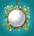 Decorative Christmas bauble background vector image vector image