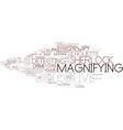 detecting word cloud concept vector image vector image