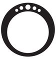 Diamond Ring Round vector image vector image
