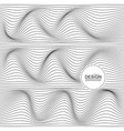 distorted wave monochrome texture vector image vector image
